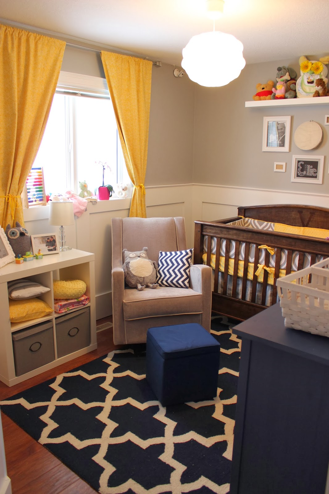 Grey And Yellow Baby Boy Nursery