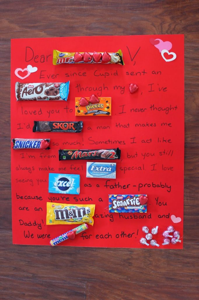 Candy Bar Love Note