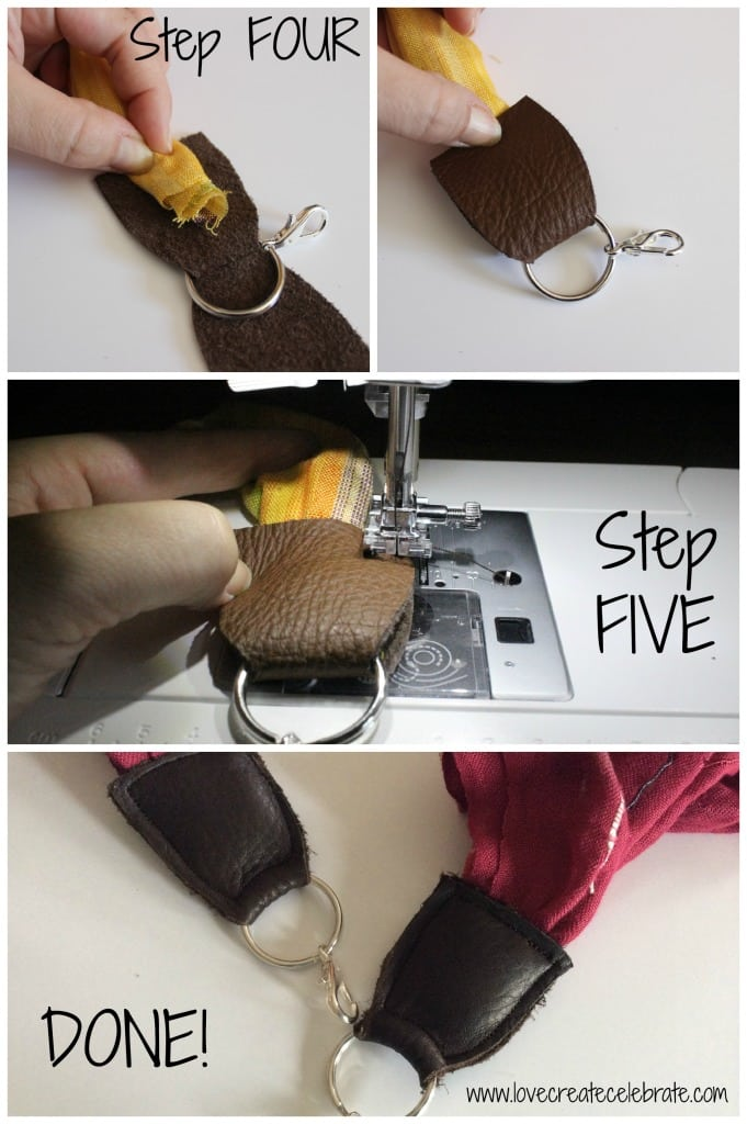 Sew the edges together, making sure to include the scarf inside.