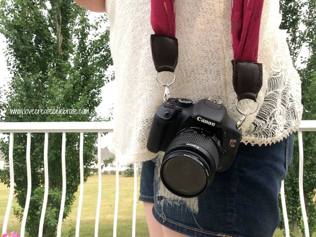 Repurpose your old scarves to create awesome new camera straps.