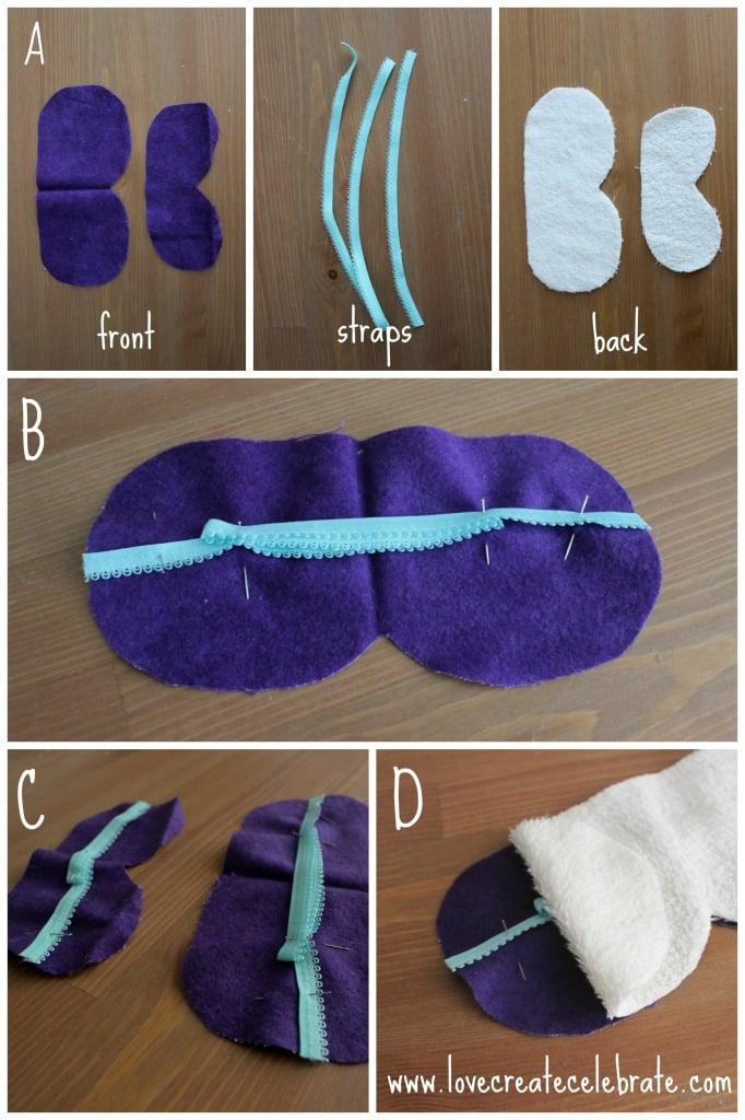 Patterns for your DIY eye mask