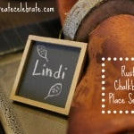 Mini Chalkboard Place Settings
