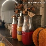 Fall Milk Bottles