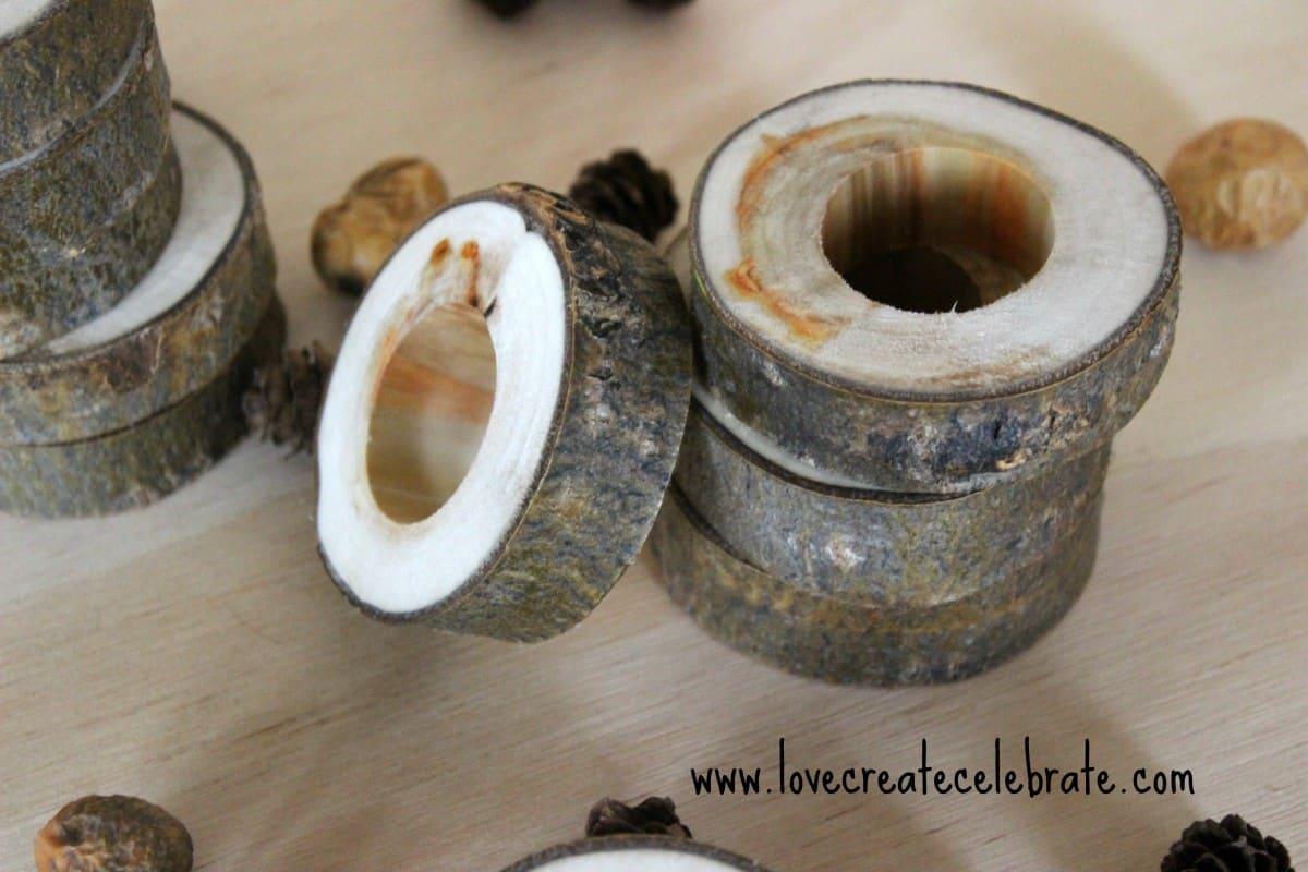 Wooden Napkin Rings Love Create Celebrate