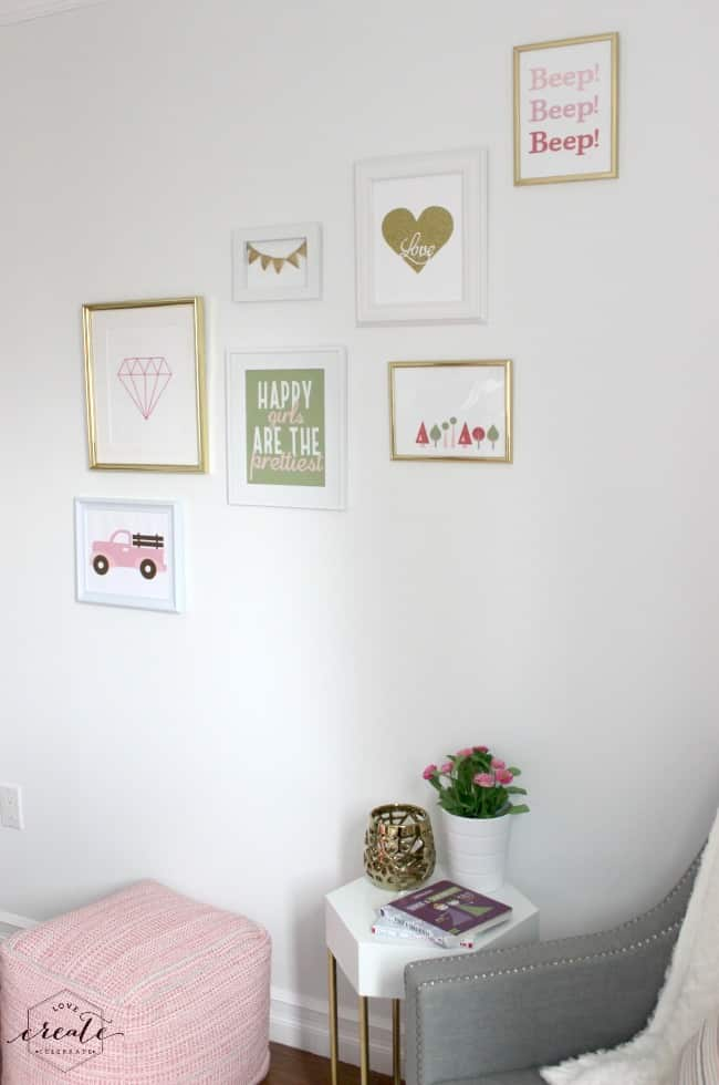 Big Girl Bedroom Gallery Wall