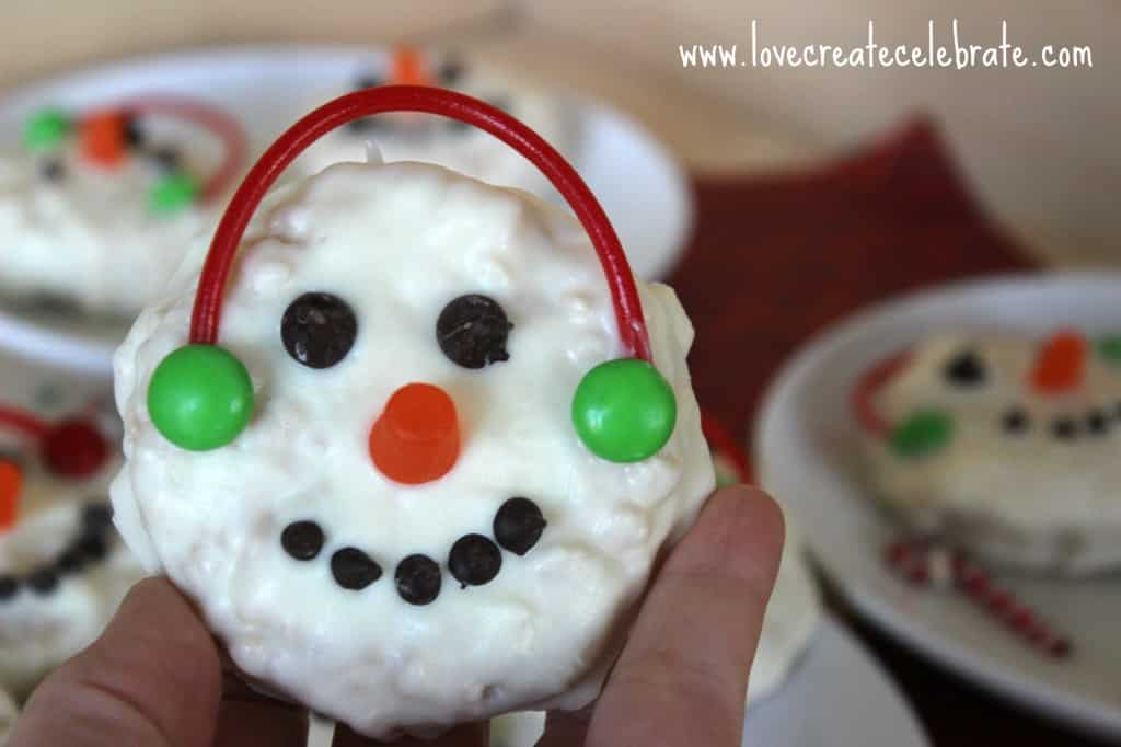 Rice Krispie Snowman Treats