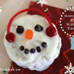 Winter Rice Krispie Snowman Treats