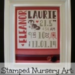 DIY Nursery Art: Birth Announcement