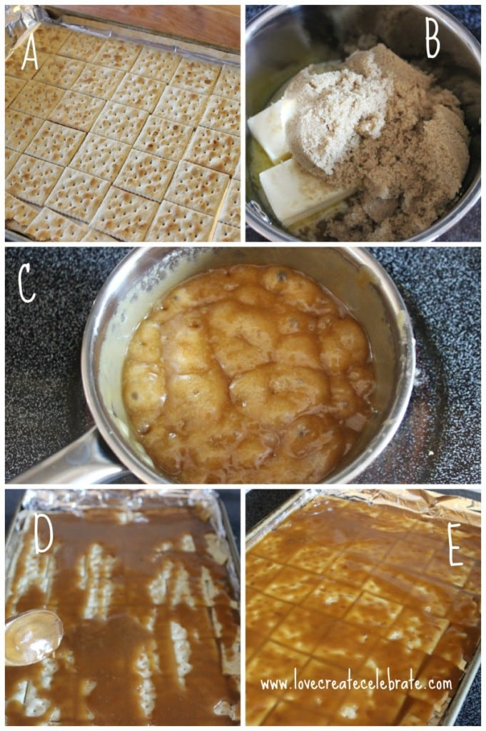 Instructions for baking bark with soda crackers