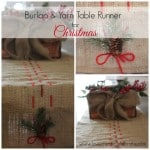 Burlap & Yarn Christmas Table Runner