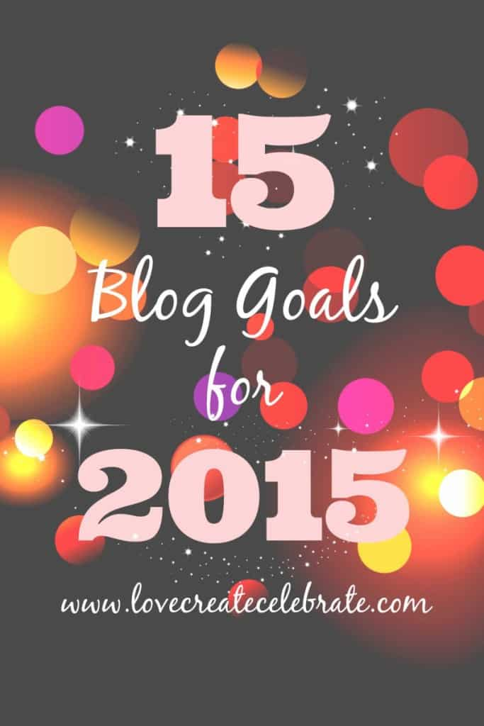 15 Blog Goals for 2015