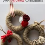 Jute String Mini Wreath Ornaments