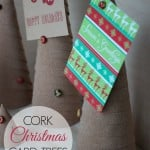 Cork Christmas Card Trees