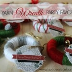 Yarn Wreath Ornament Party Favors