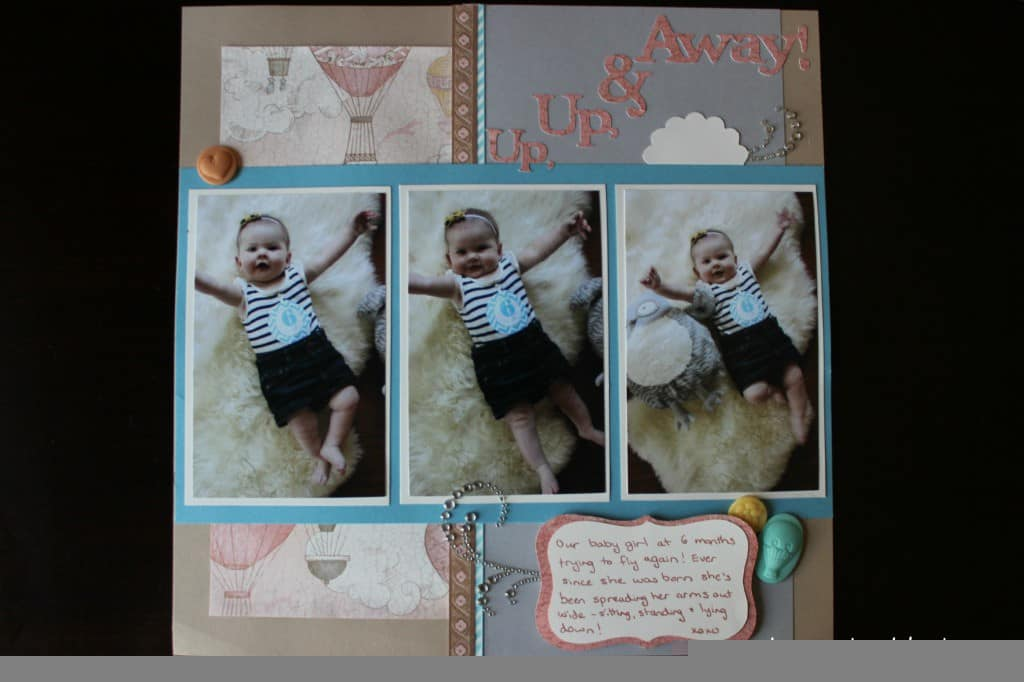 Scrapbook of baby's first year