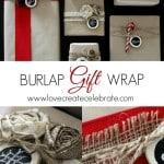 Burlap Christmas Gift Wrap