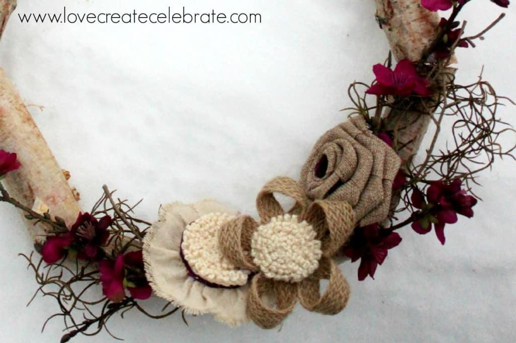 Birch Wood Wreath