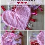 Heart Taggie Blanket