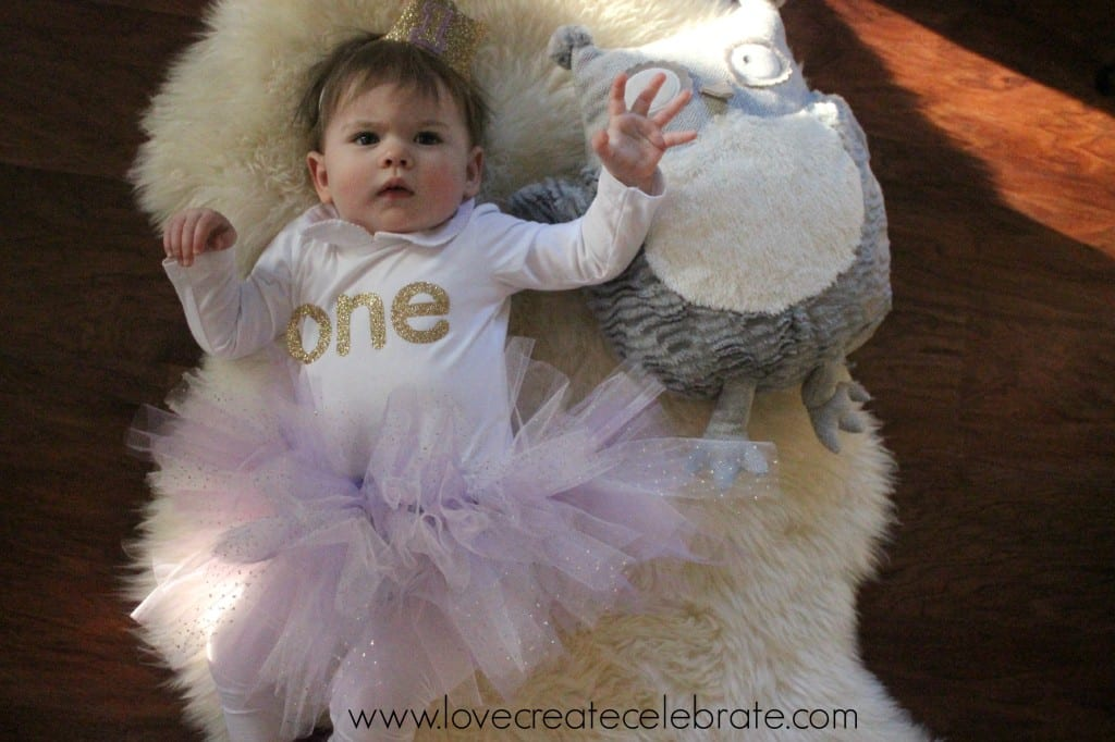 The finished tutu, ready for the birthday girl