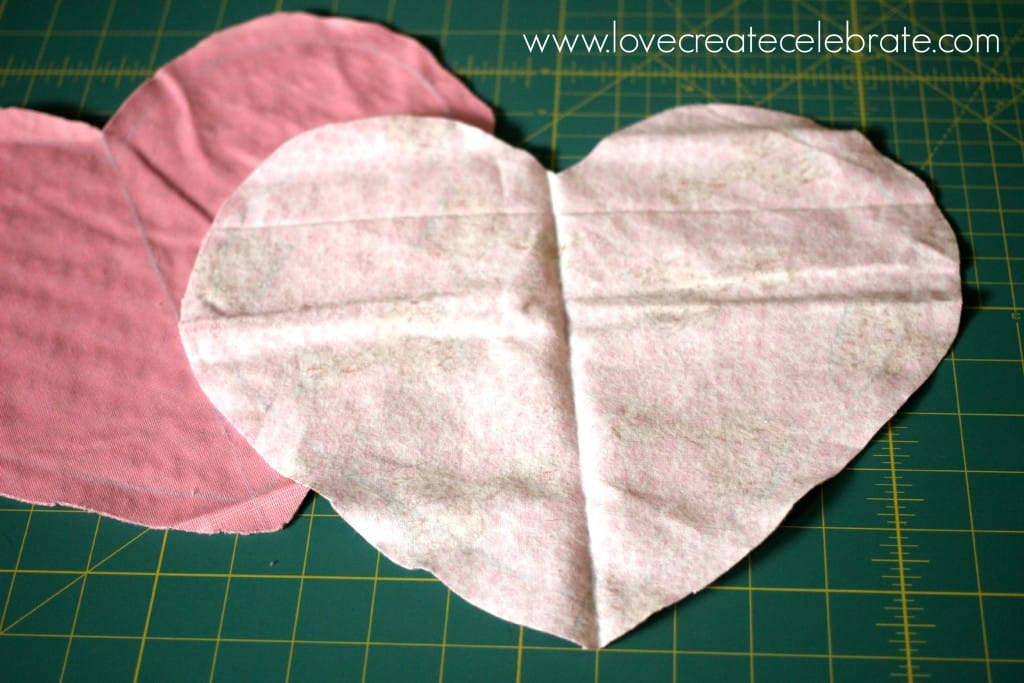 Now it is time to start assembling your heart taggie blanket.