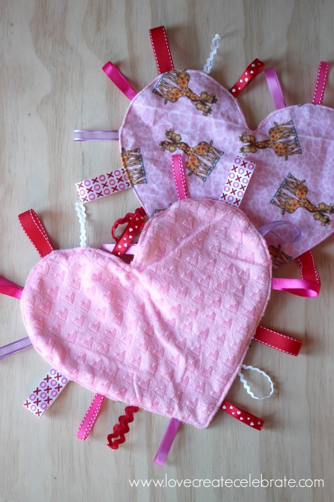 These heart taggie blankets are so soft!