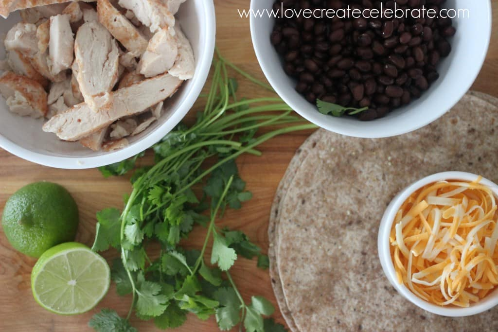 Black Bean and Chicken Quesadillas