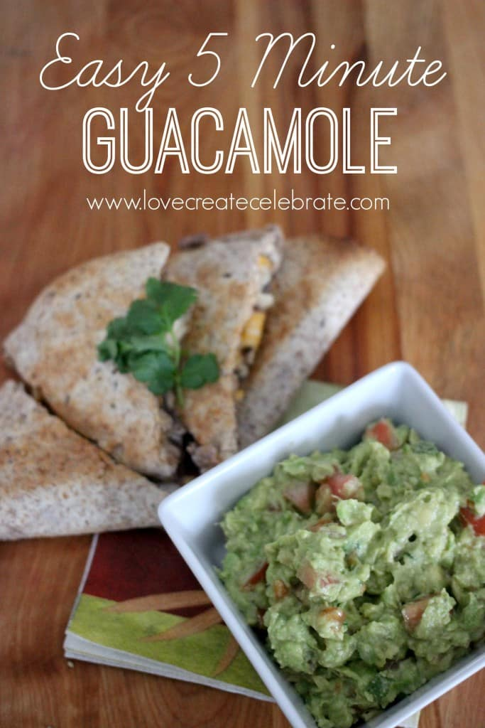 Easy 5 Minute Guacamole