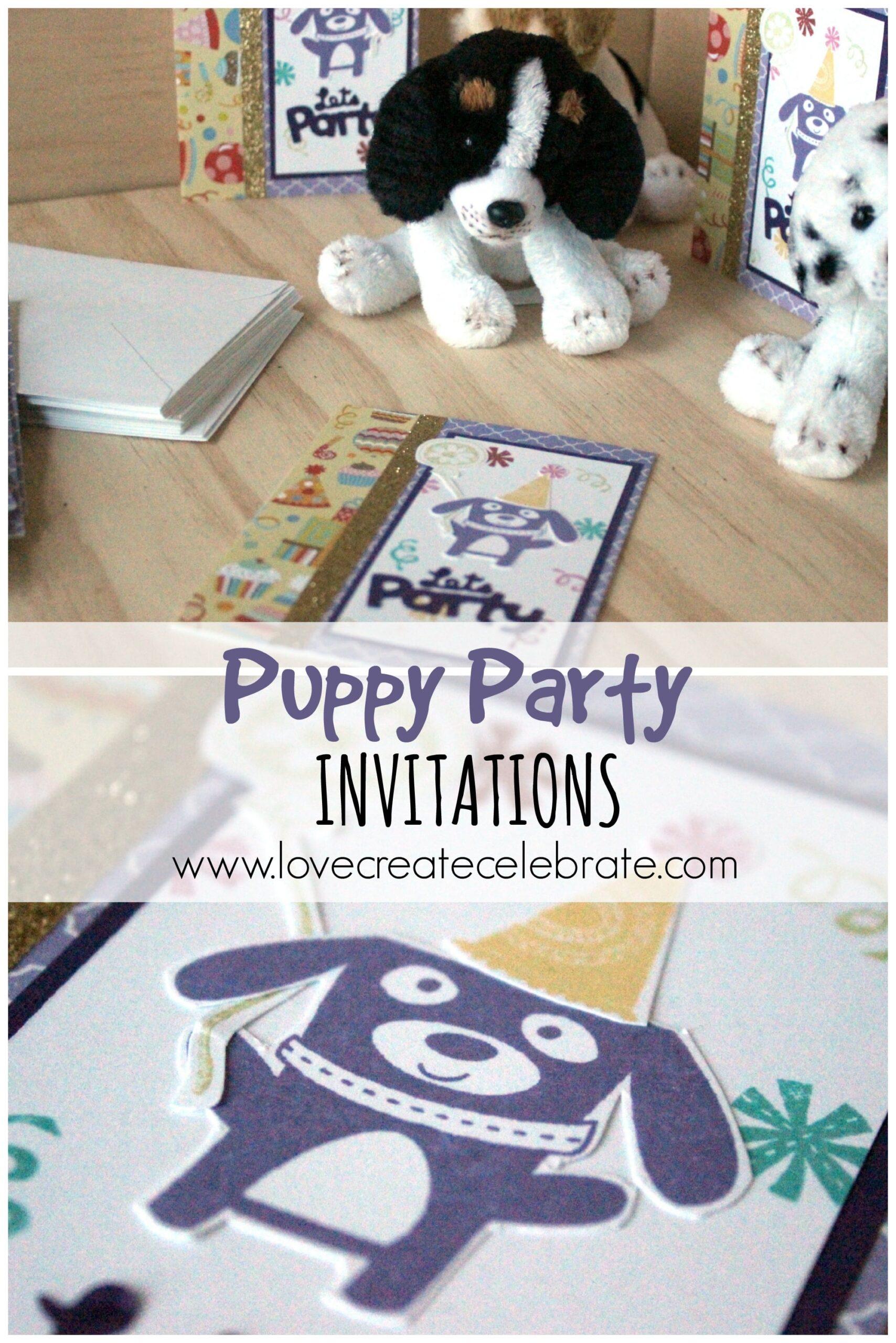 Puppy Party Invitations - Love Create Celebrate