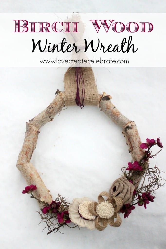 Winter Birch Wood Wreath