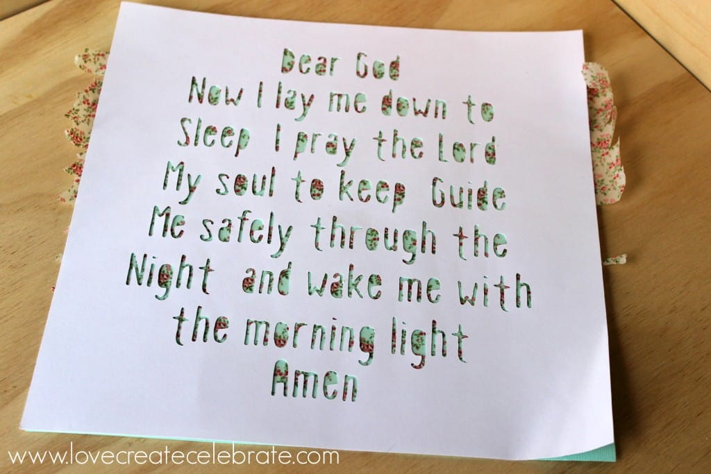Bedroom Prayer Frame