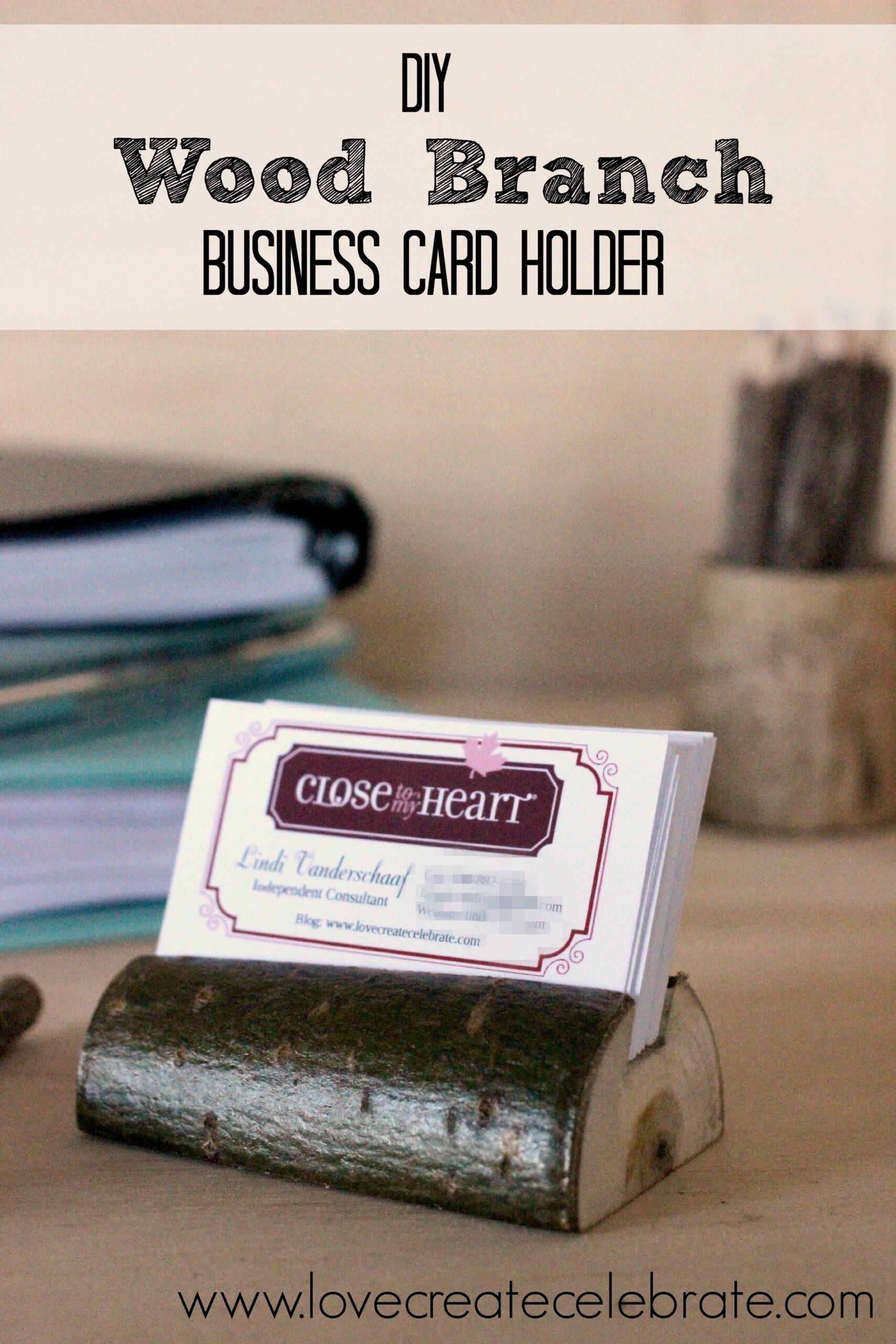 Rustic Business Card Holder - Love Create Celebrate