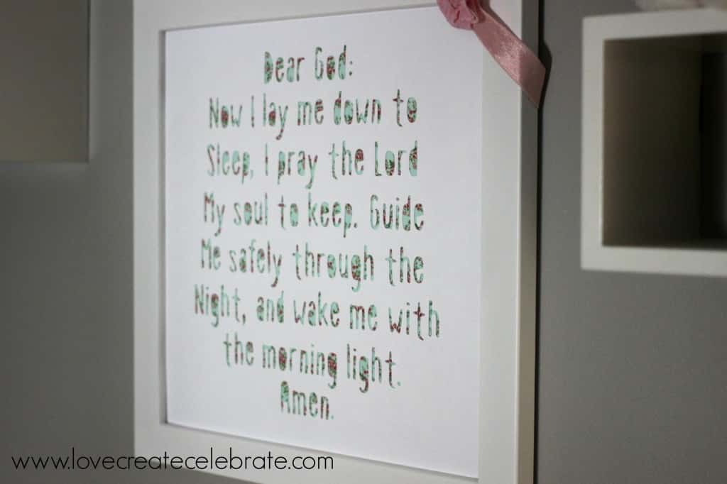 Bedtime Prayer Frame