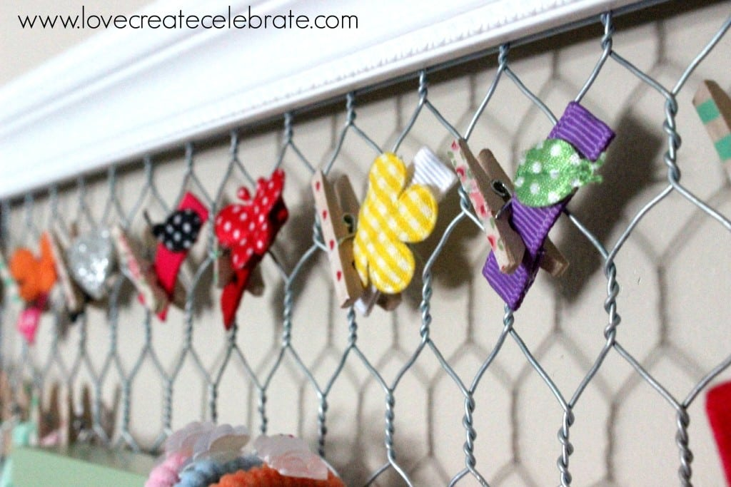 Tiny barrettes can be added with clothespins.