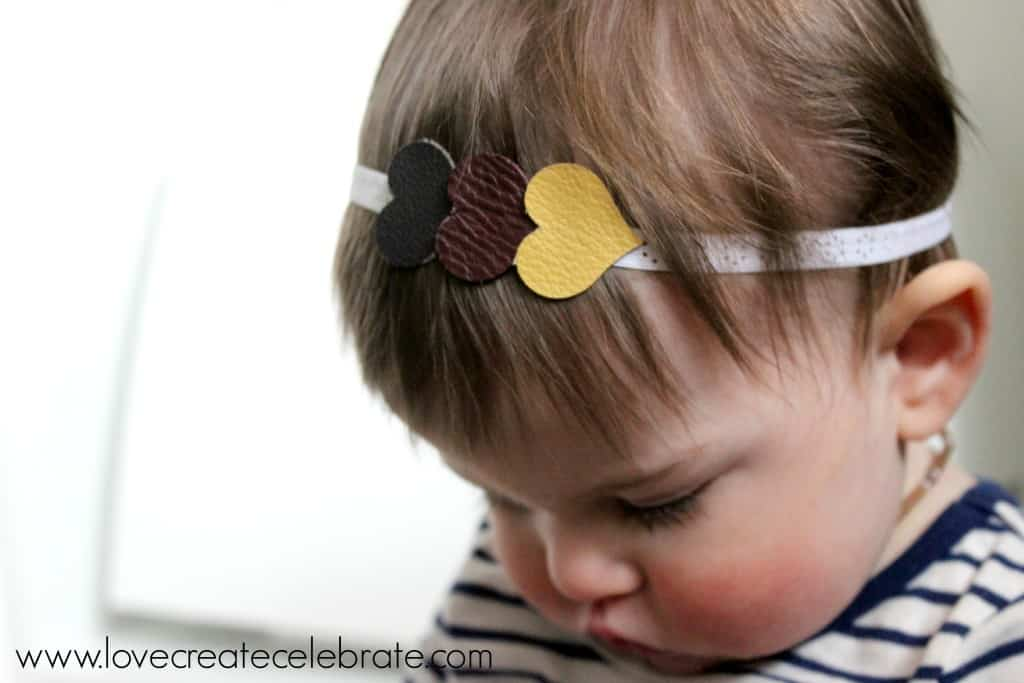 Leather Heart Headband