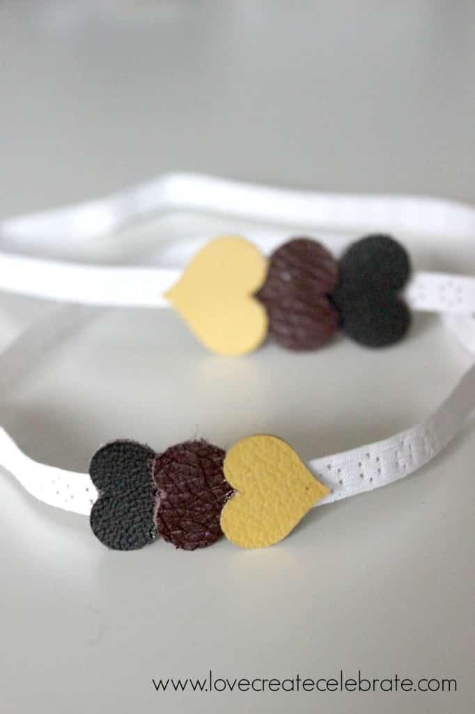 Leather Heart Headband
