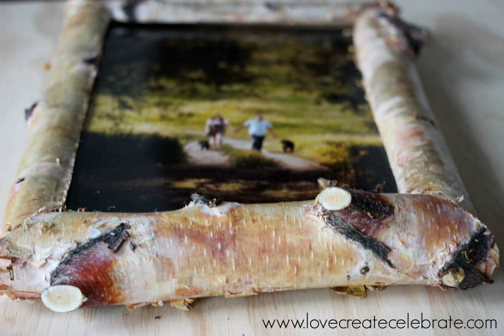 This DIY rustic wood picture frame is an easy project