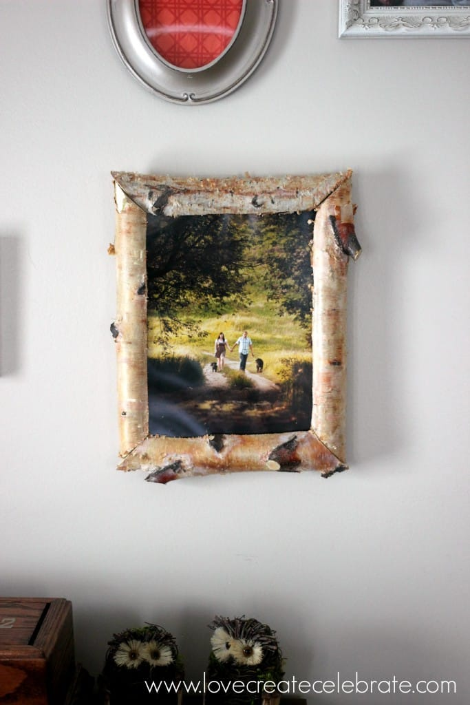 Create this DIY birch wood picture frame with this simple tutorial