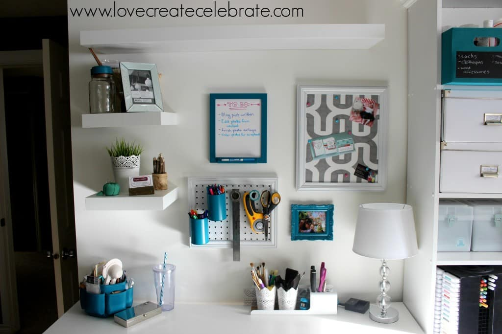 Custom Craft Desk and Gallery Wall
