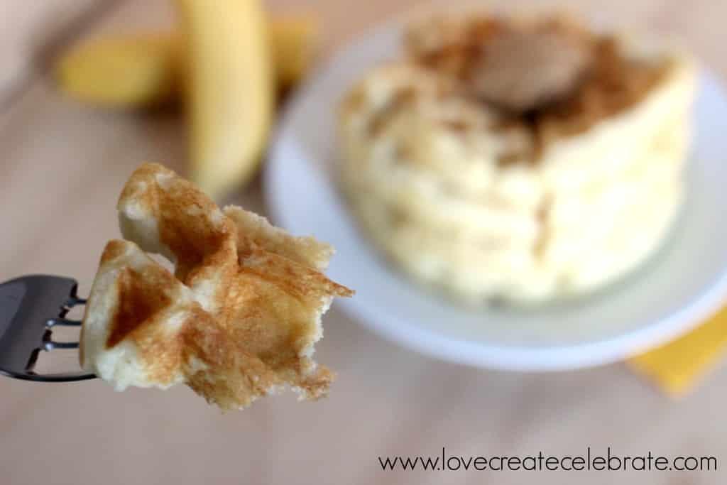 Peanut Butter & Banana Waffles