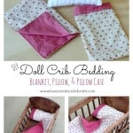 Doll Crib Bedding