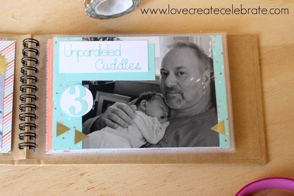 This pregnancy announcement book is an easy way to include your whole family in your special announcement