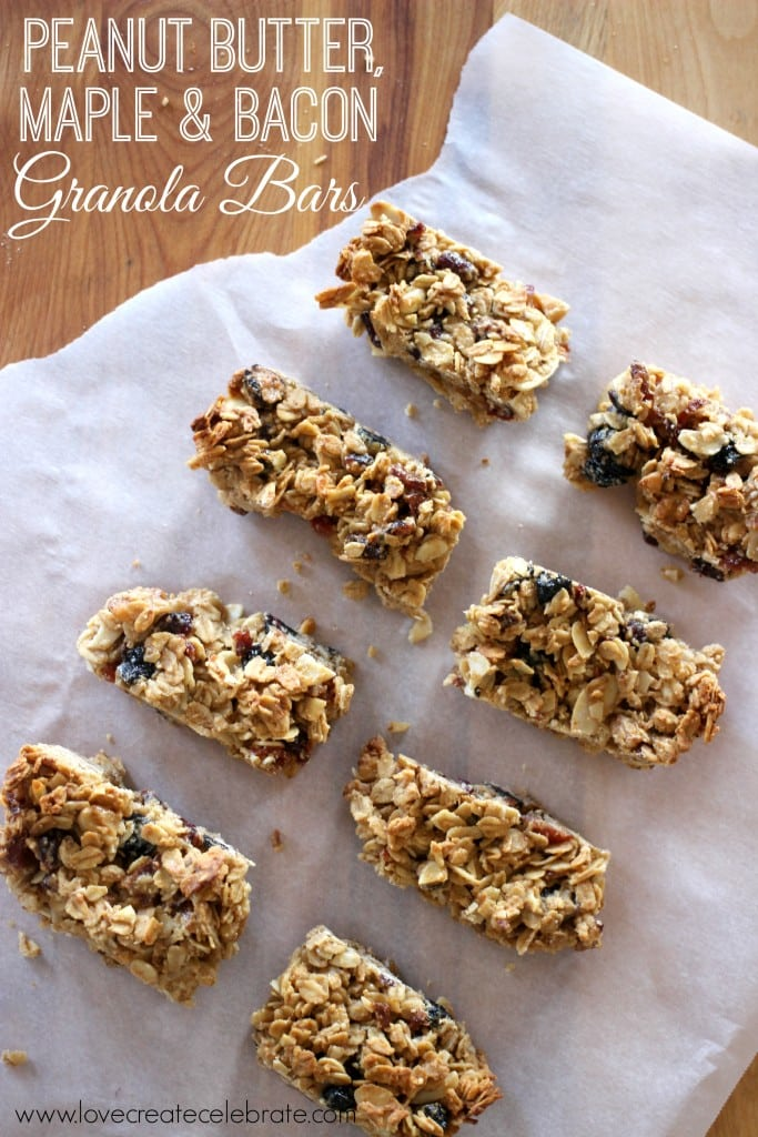 Peanut Butter, Maple, and Bacon Granola Bars