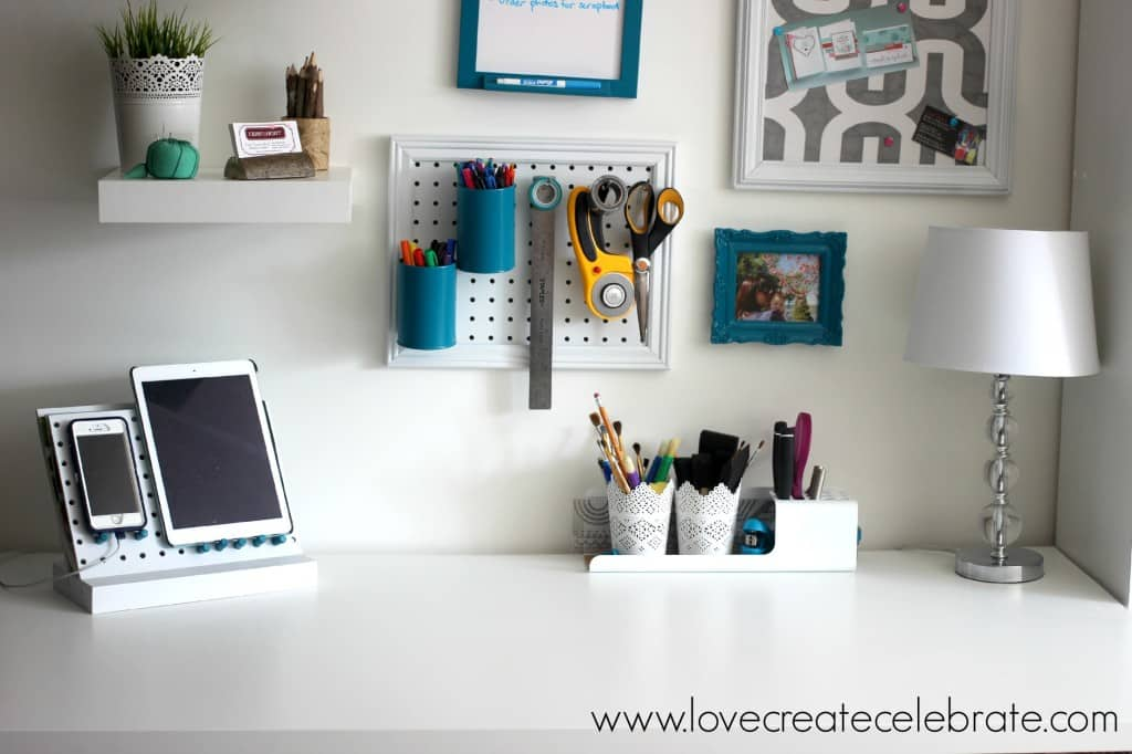 Peg Board Office Organizer