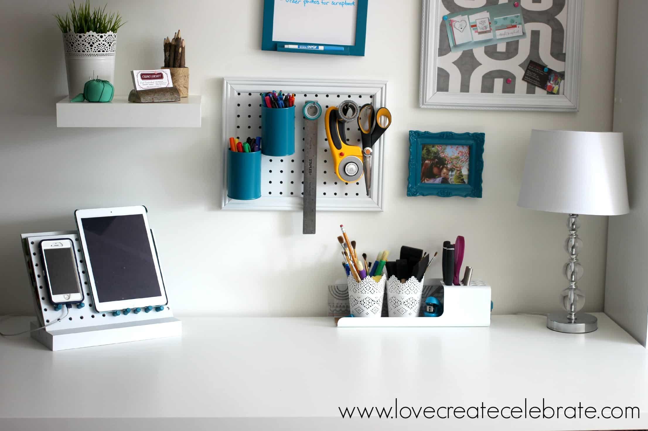Peg Board Desk Organizer Love Create Celebrate