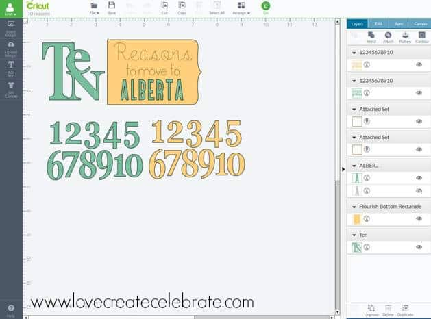 Use the cricut design studio to format the letters for your pregnancy announcement book