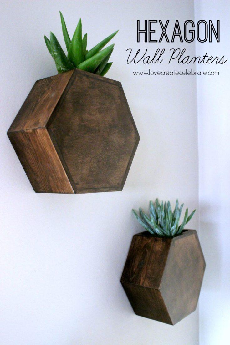 Hexagon Wall Planter