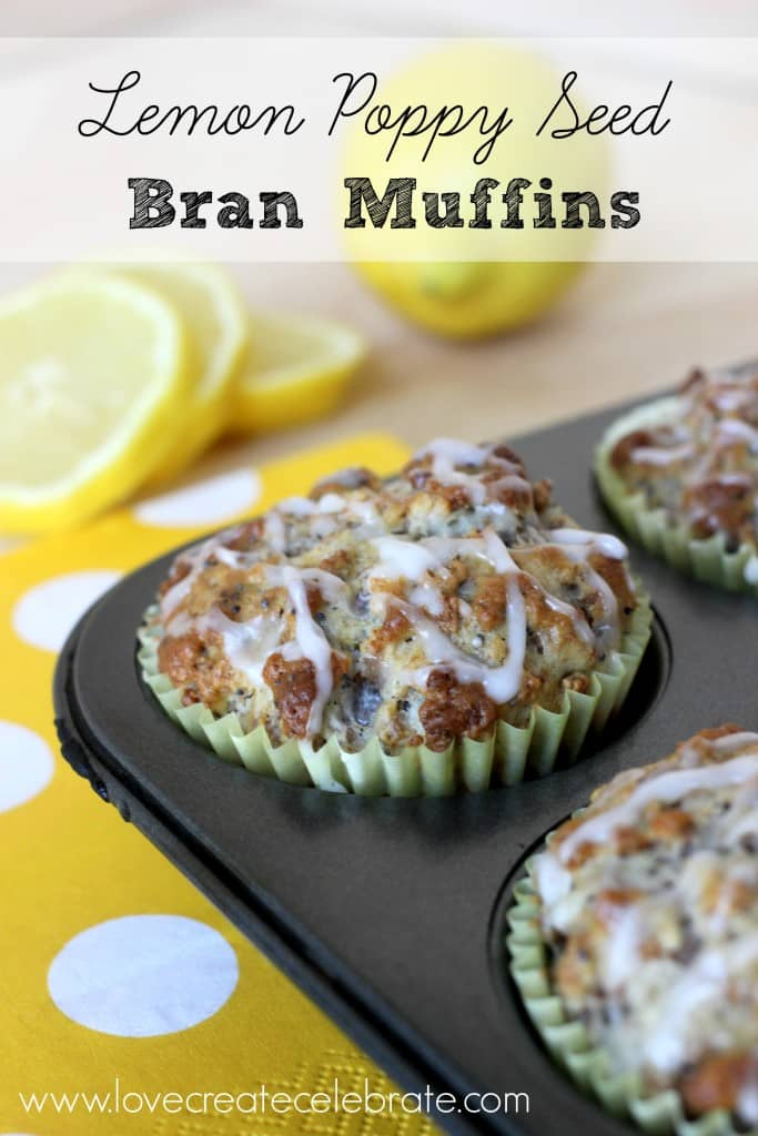 Lemon Poppy Seed Bran Muffins