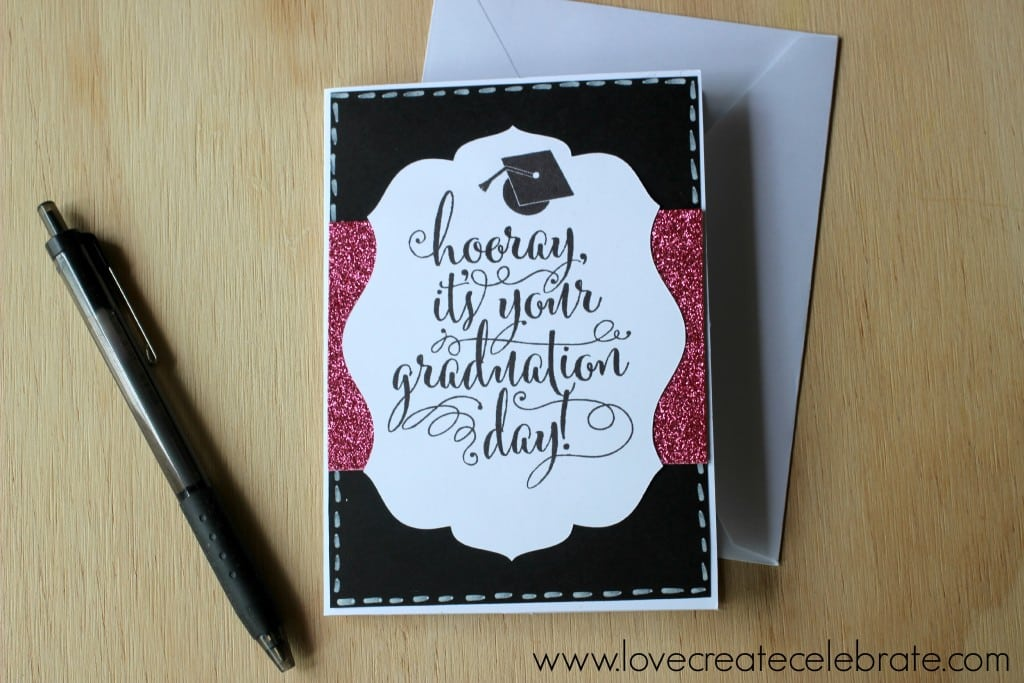 This finished graduation card is all ready to be signed for that special grad in your life!