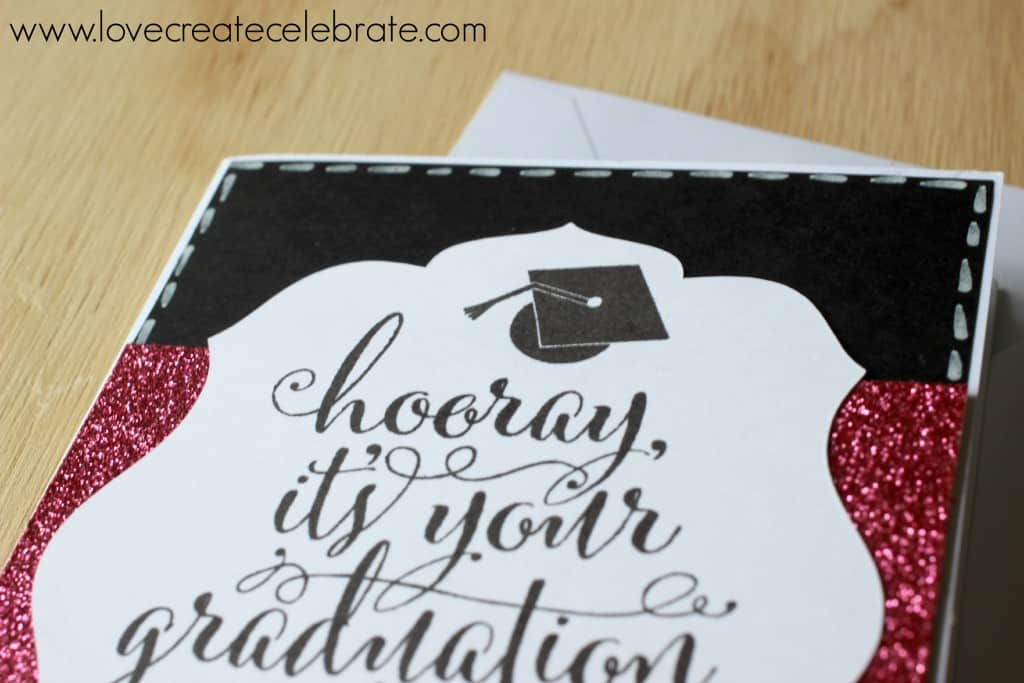 This simp[le graduation card was made using Close to My Heart materials.