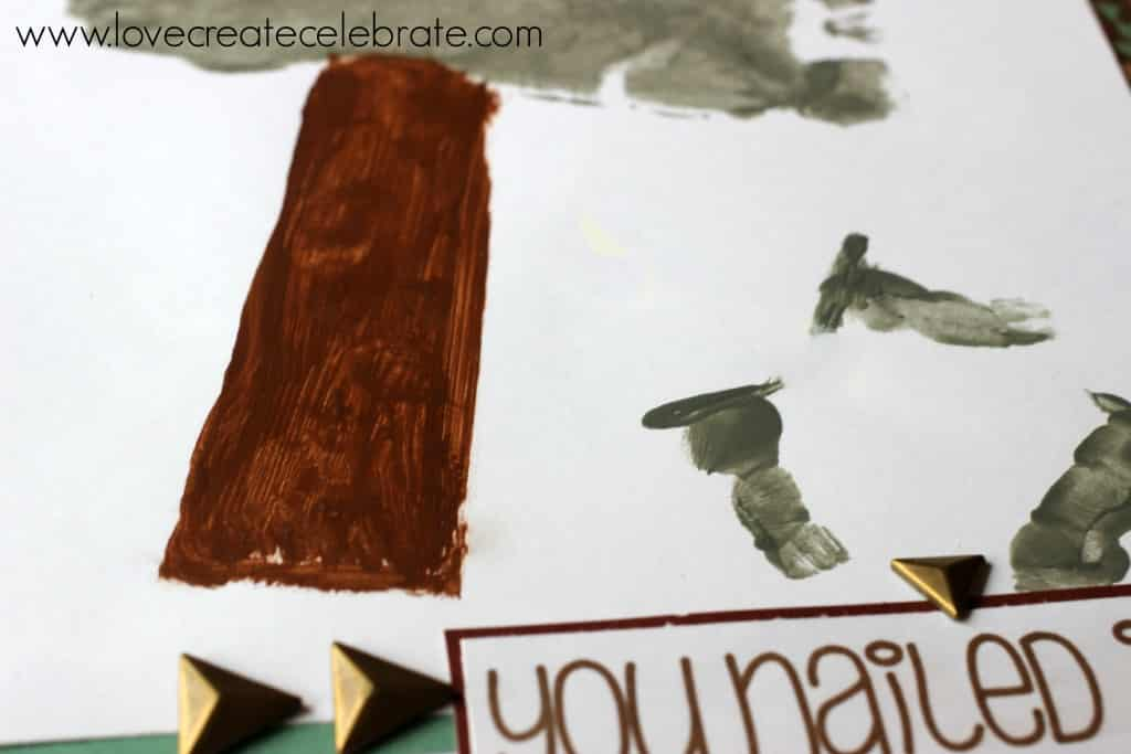 Detail of a DIY Father's Day card